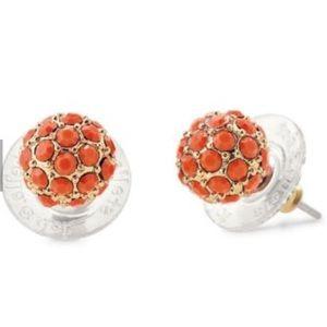 Stella & Dot Soirée Stud Earrings - Coral